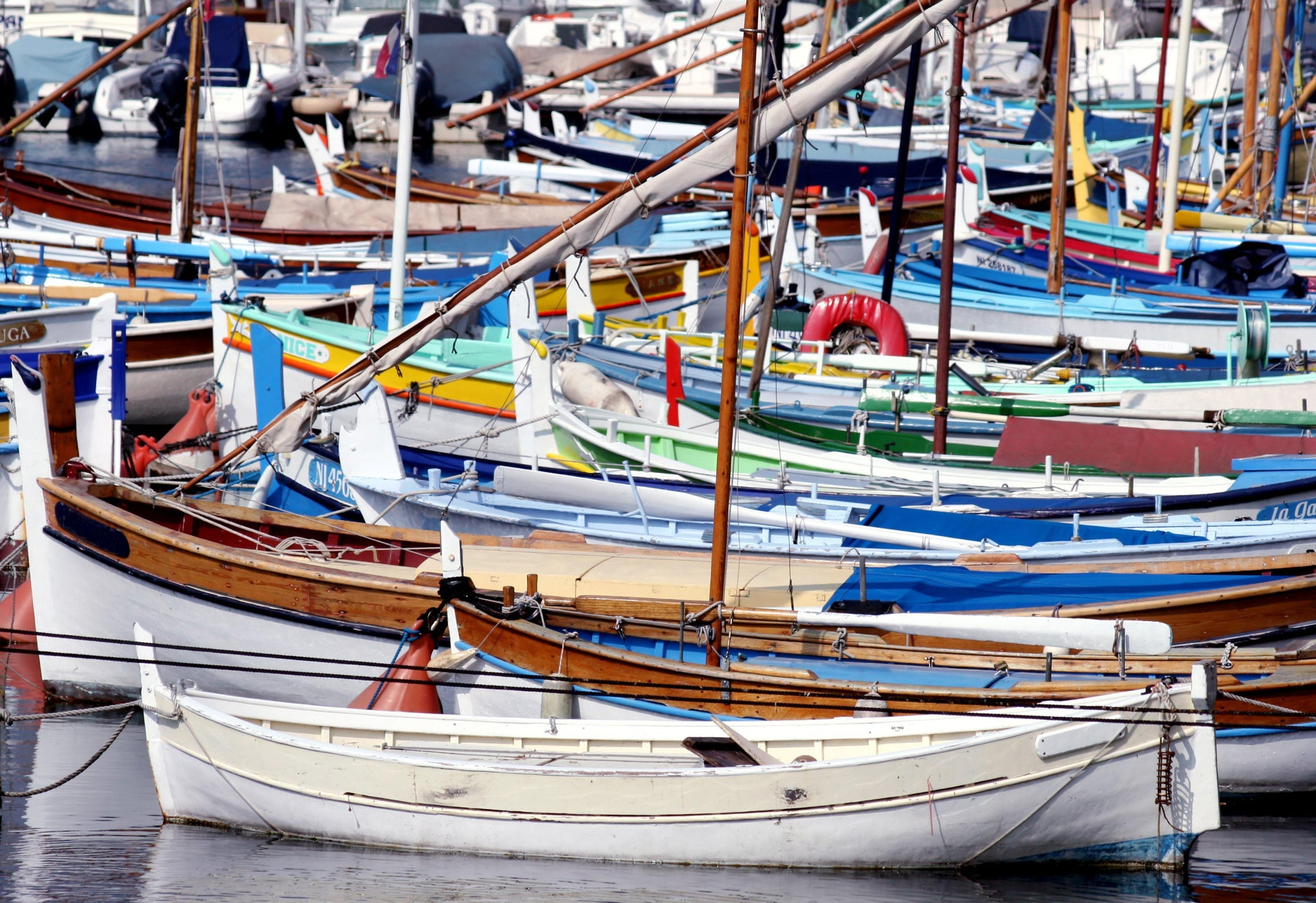 Colorful Boats, France