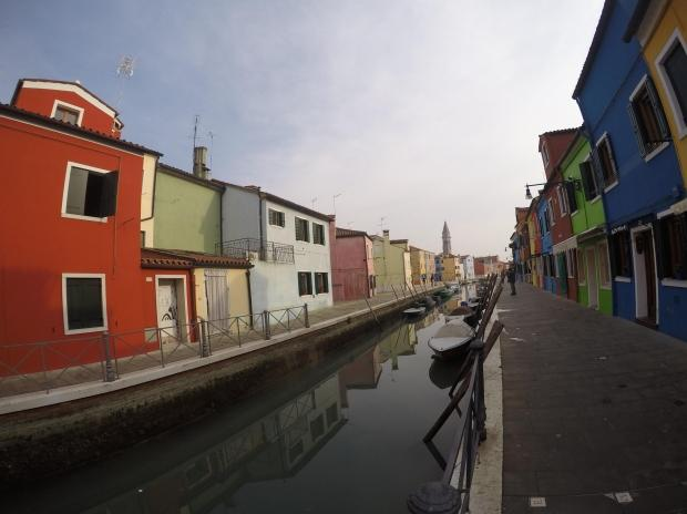 Colorful Houses Along Canal 3, Venice, Italy