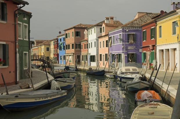 Colorful Houses, Colorful Boats, Italy