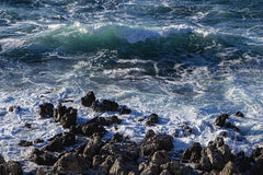 Crashing Waves On Rocky Coast