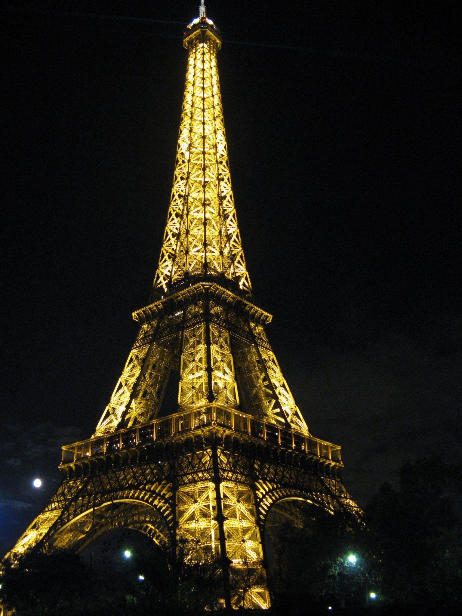 Eiffel Tower Lit Up, Paris, France