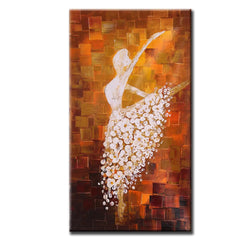 Hand Painted Abstract Oil Painting Ballet Dancer  (Only 1 Available from Artist!)