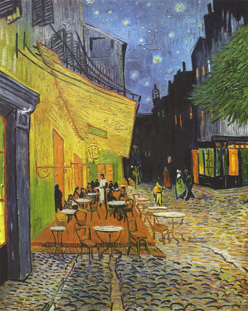 Hand Painted Café Terrace at Night by Vincent van Gogh