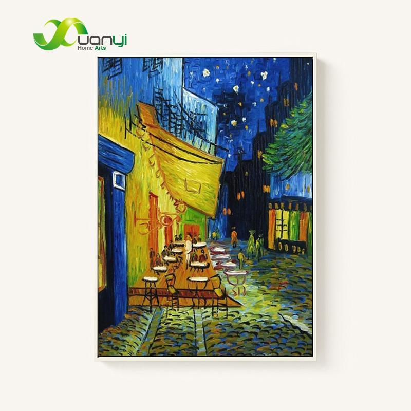 Hand Painted Café Terrace at Night - van Gogh Oil Painting Reproduction (Only 1 Available from Reproduction Artist!)