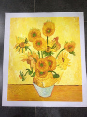 Hand Painted Sunflower by van Gogh
