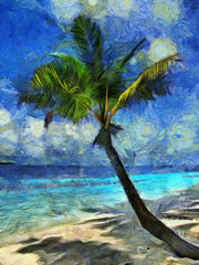 Palm On Beach - Art Inspired by Vincent van Gogh