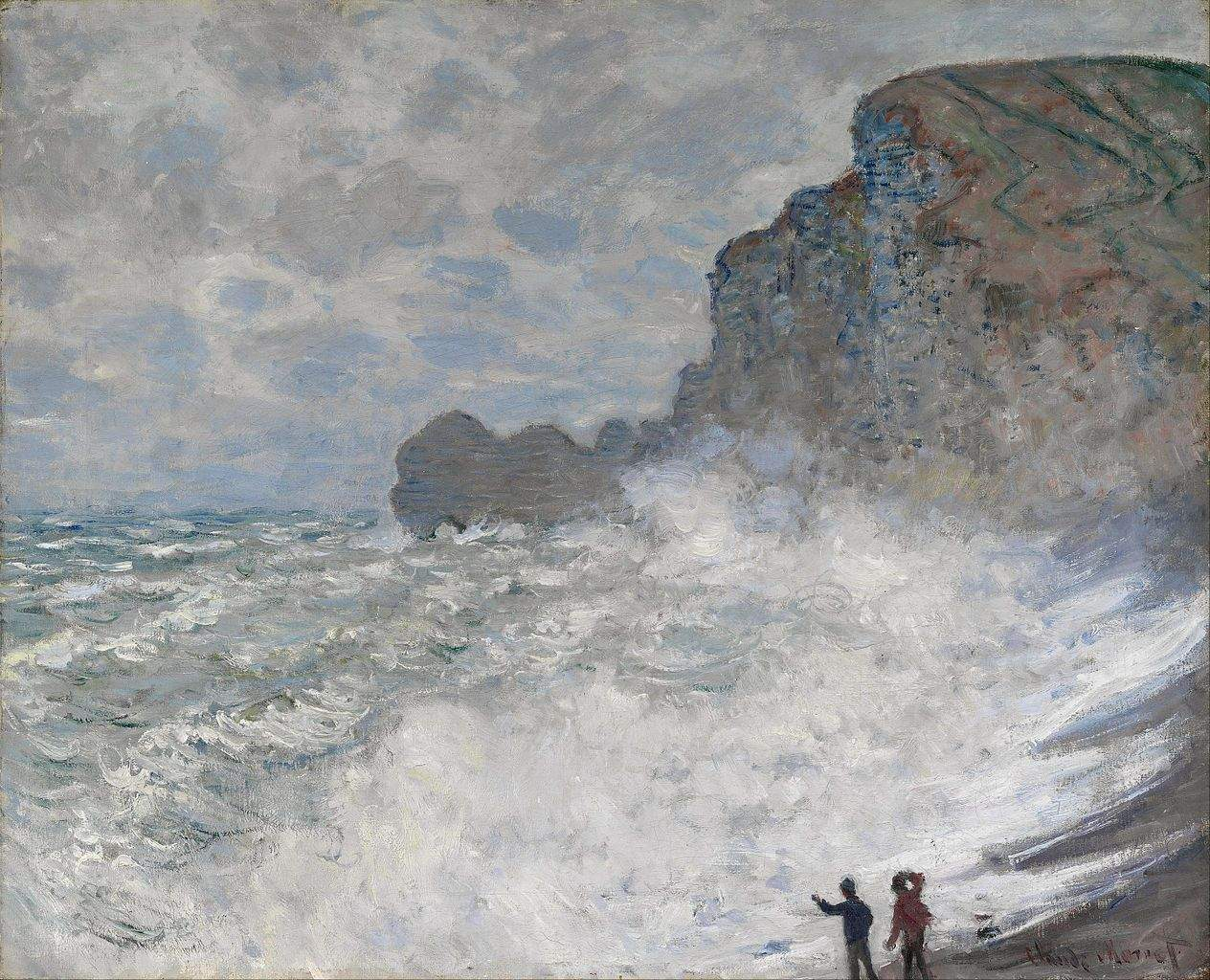 Rough Weather at Etretat