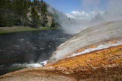 Runoff from Excelsior Geyser, Firehole River, Wyoming