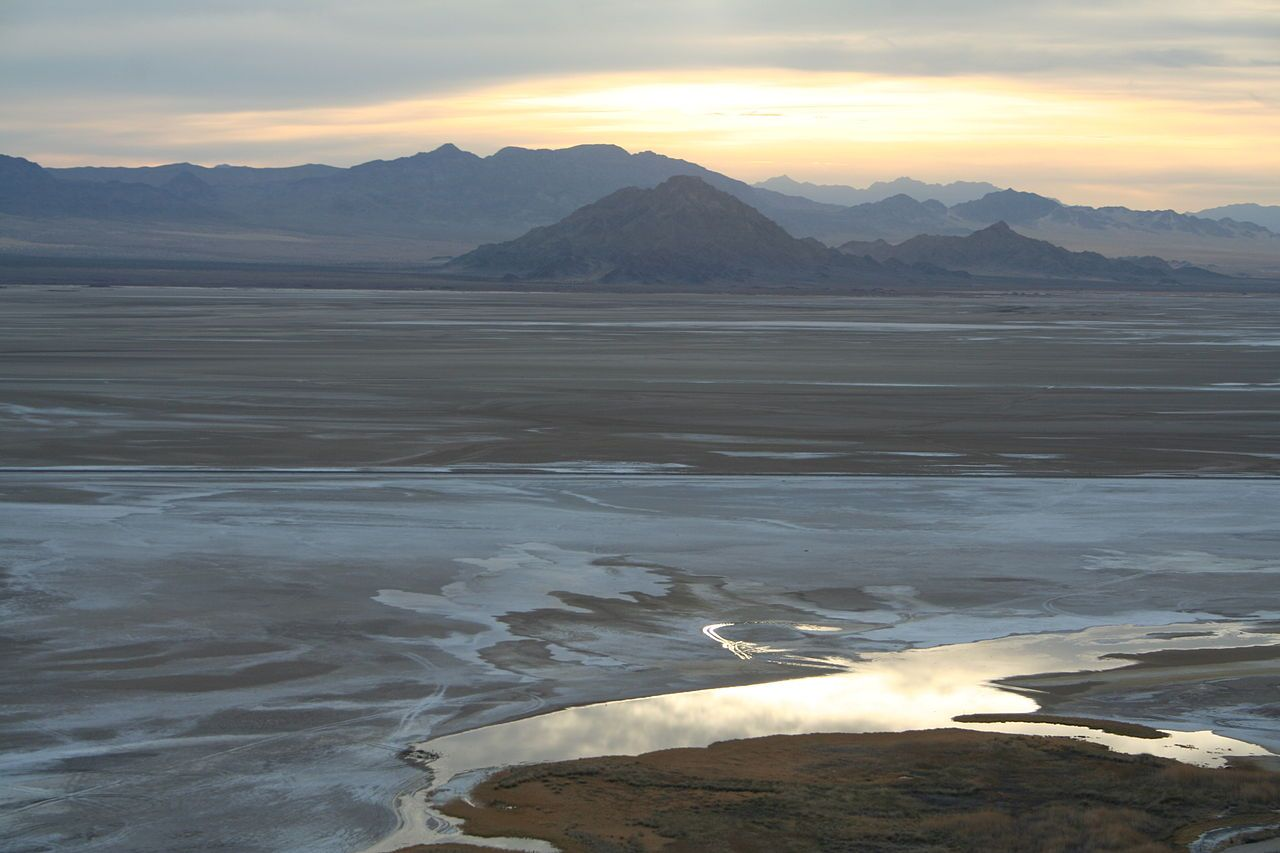 Soda Lake,  Mojave Desert near Zzyzx, California