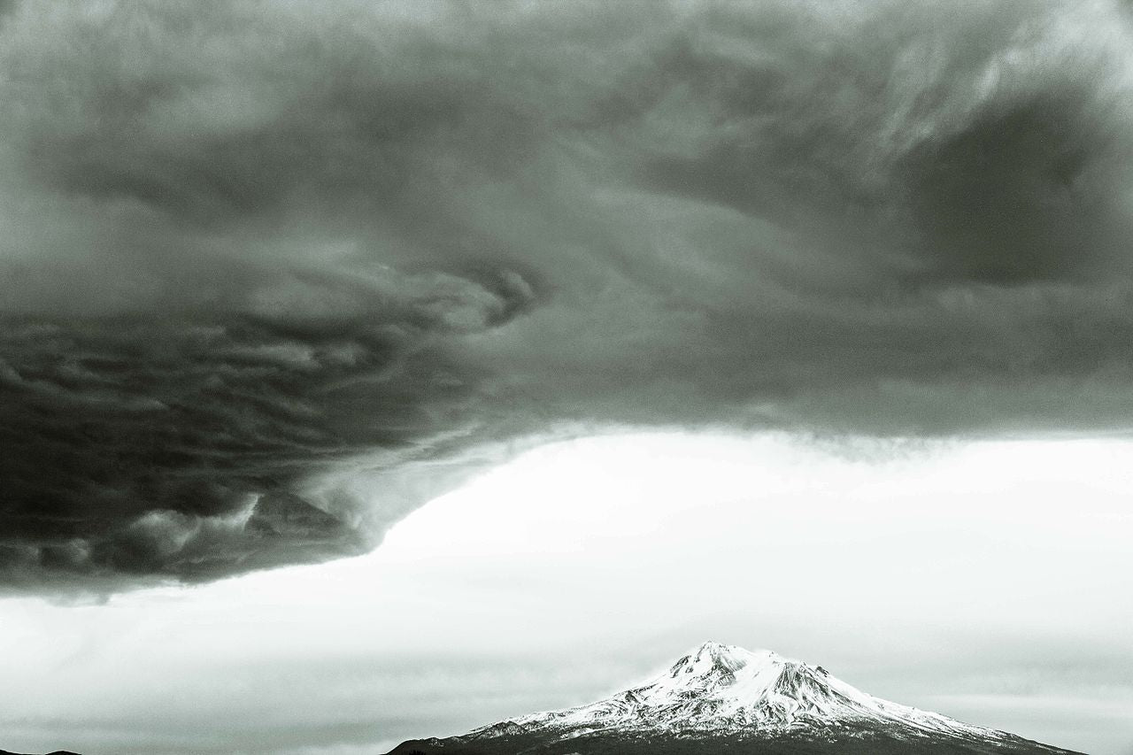 Storm Over Mount Shasta, California