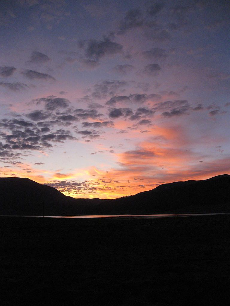 Sunrise across Eagle Nest Lake State Park, New Mexico