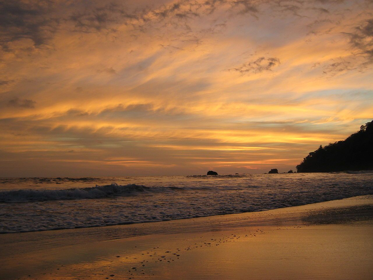 Sunset at Manuel Antonio, Costa Rica
