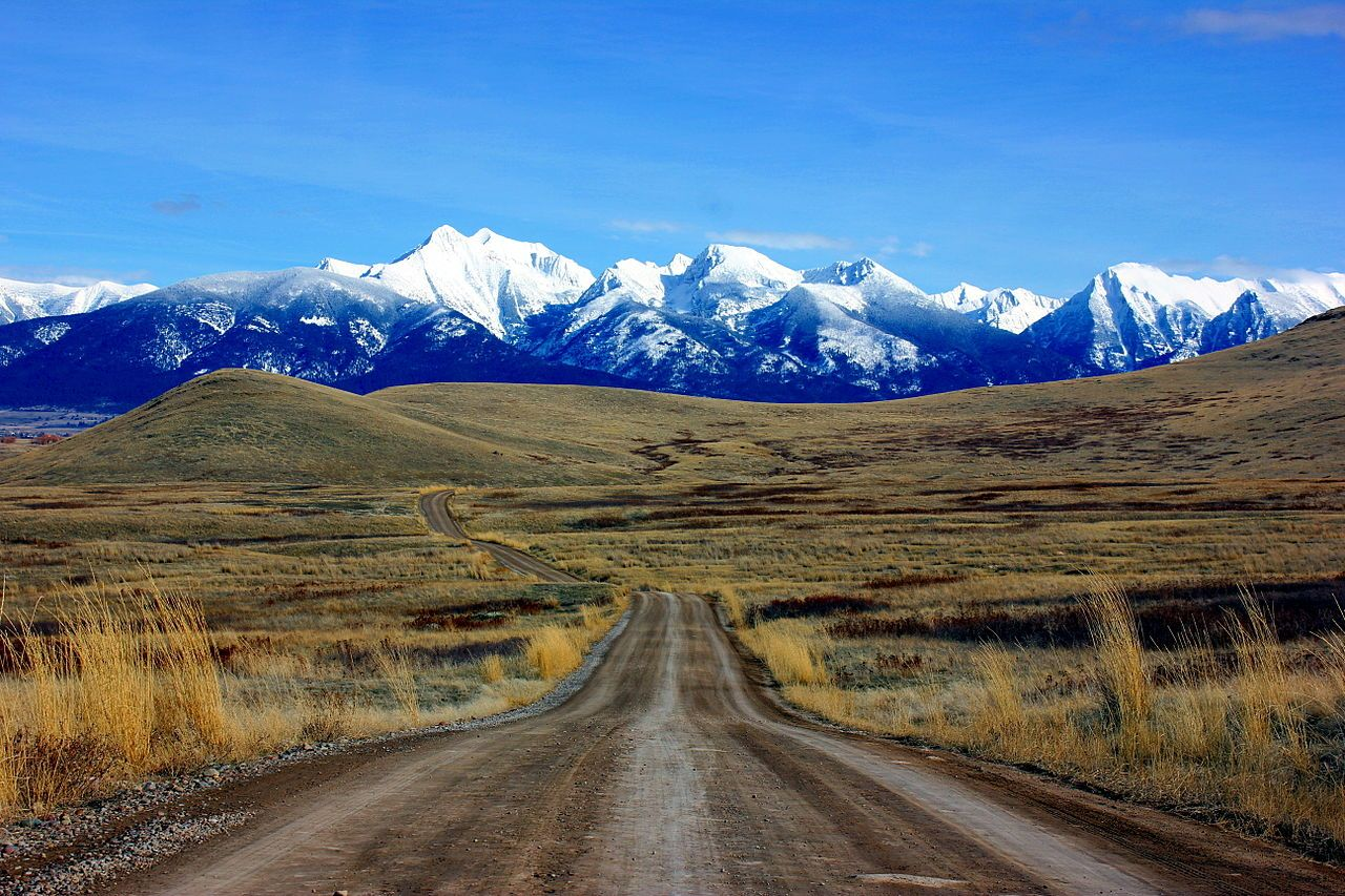 The Mission Mountains, National Bison Range, Montana