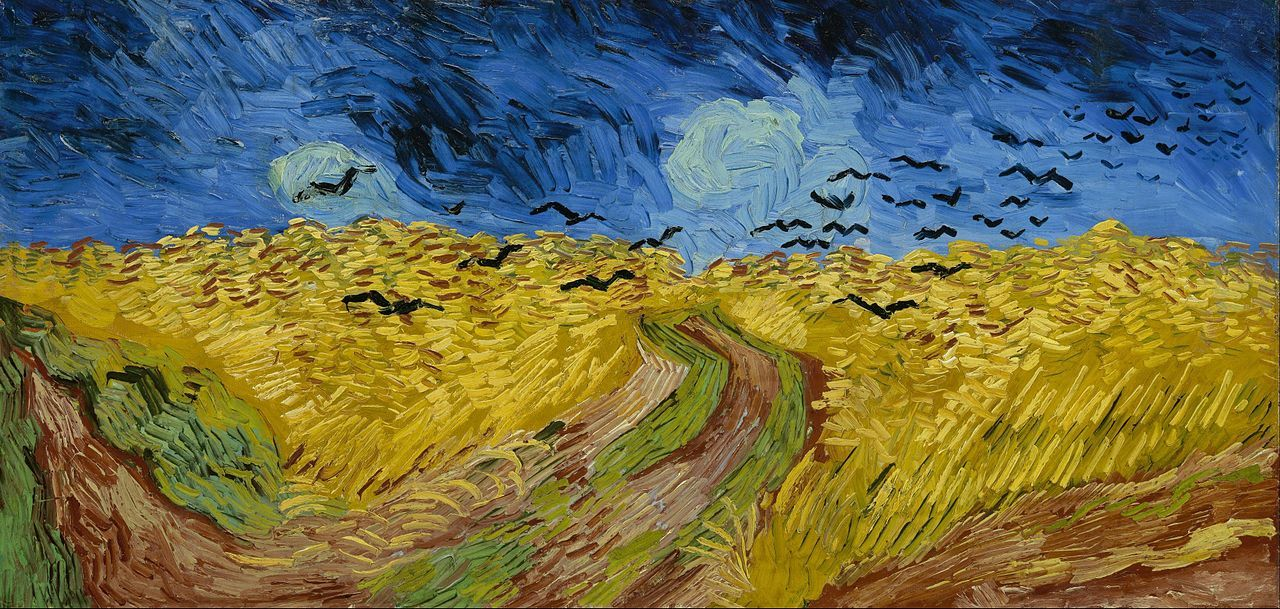 Wheatfield with Crows by van Gogh