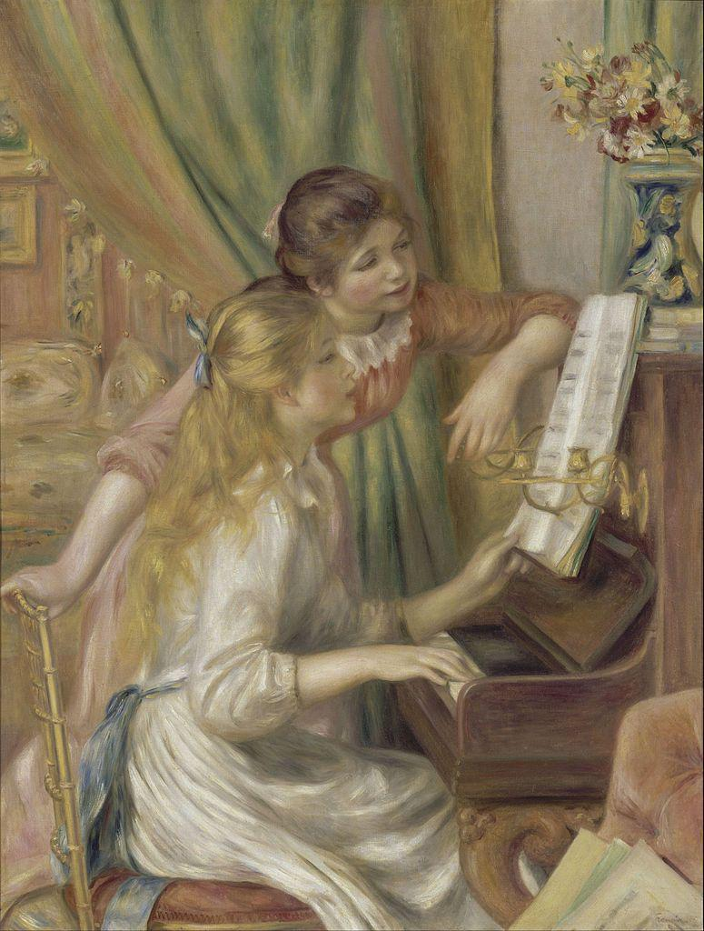 Young Girls at the Piano by Renoir