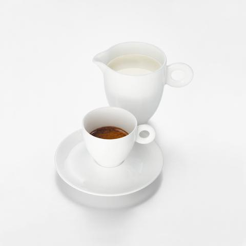 illy bone china sütlük
