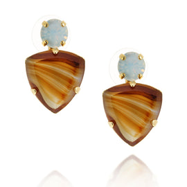 Agate Tiger Eye Earrings