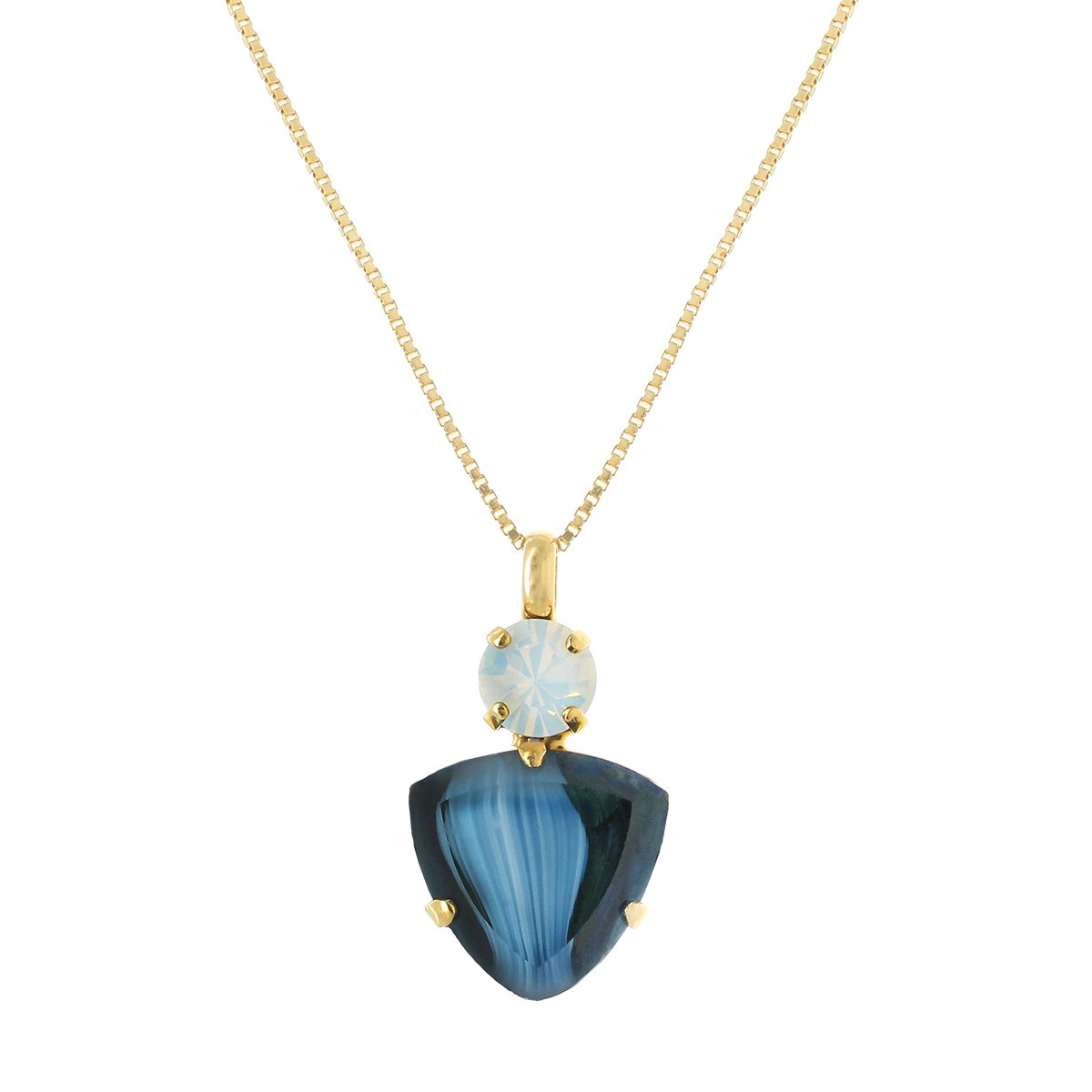 Agate Ocean Blue Necklace