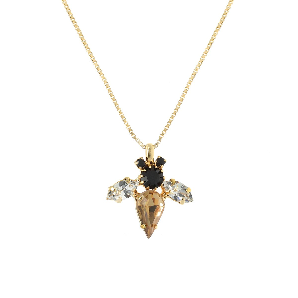 Bumble Bee Topaz Necklace