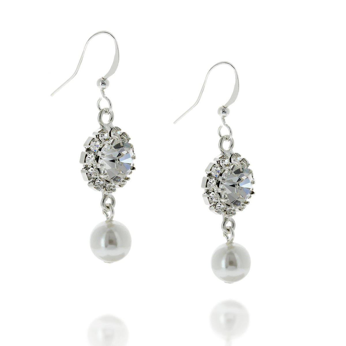 Rosetta Pearl Hooked Earrings.