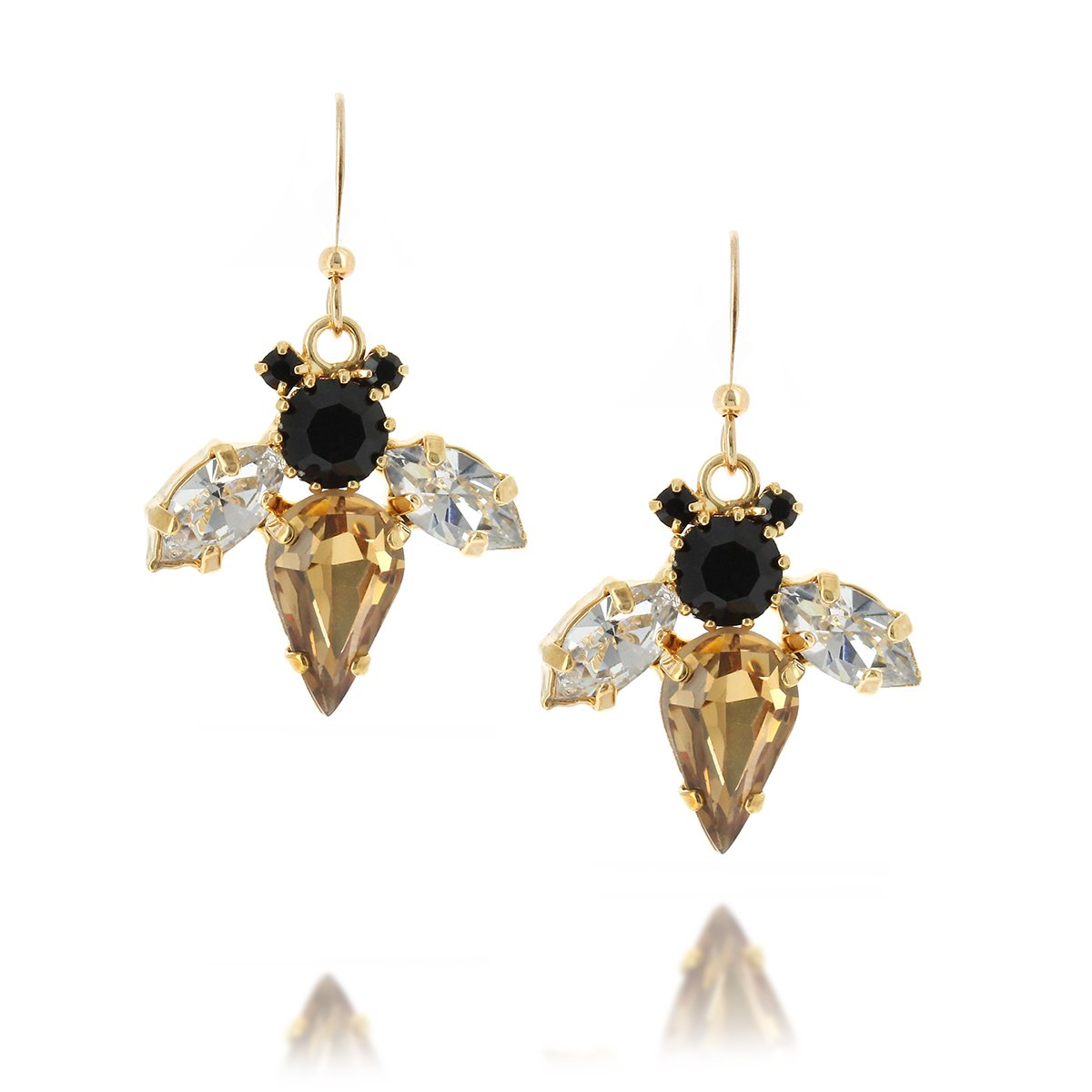 Bumble Bee Topaz Earrings
