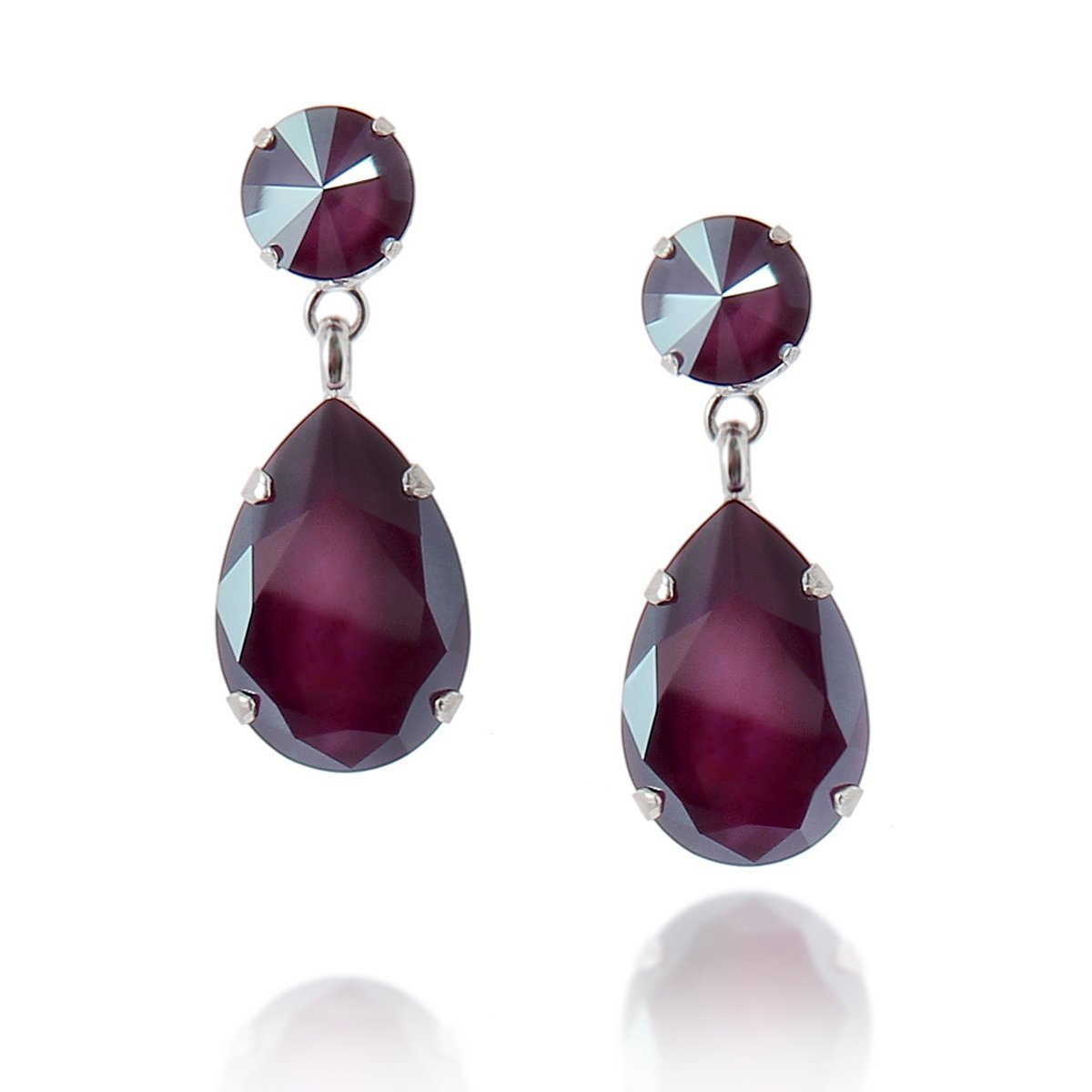 Angelina Earring Dark Red