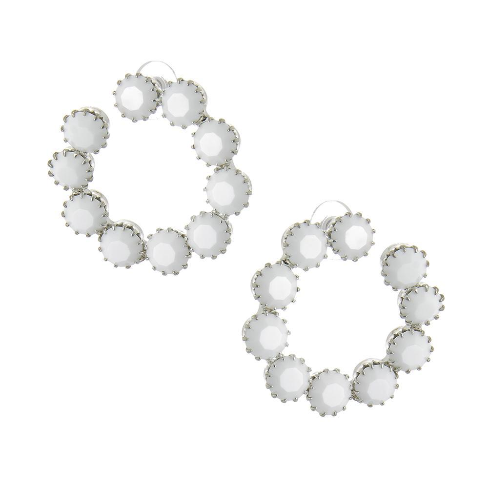 Aspect Chalk White Earrings