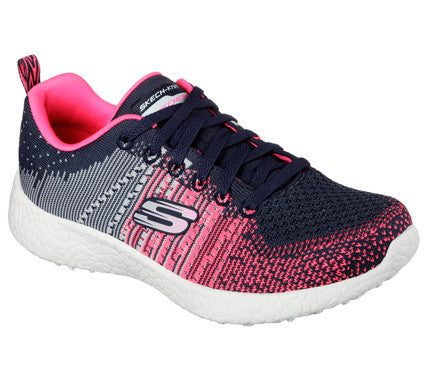 a86fd500adfb Skechers Womens Energy Burst Ellipse Charcoal Pink Gym Shoes - Top ...