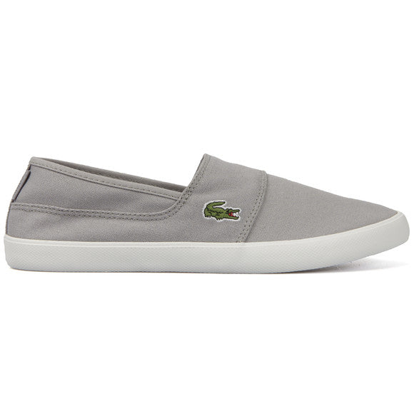 a68862f9447566 Lacoste Men s Mens Marice LCR SPM Canvas Grey Slip On Sneakers - Top ...