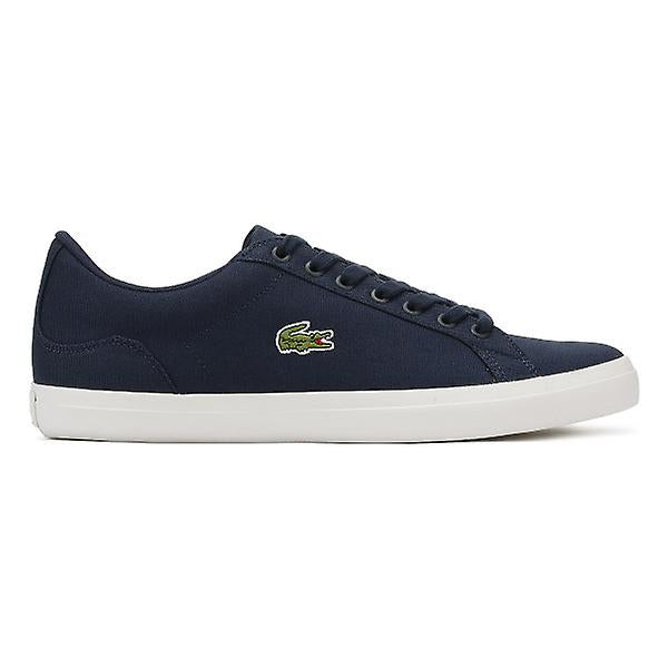 b25f4c21edaf Lacoste Men s Blue Navy Lerond Bl 2 Cam Trainers Canvas - Top brand ...