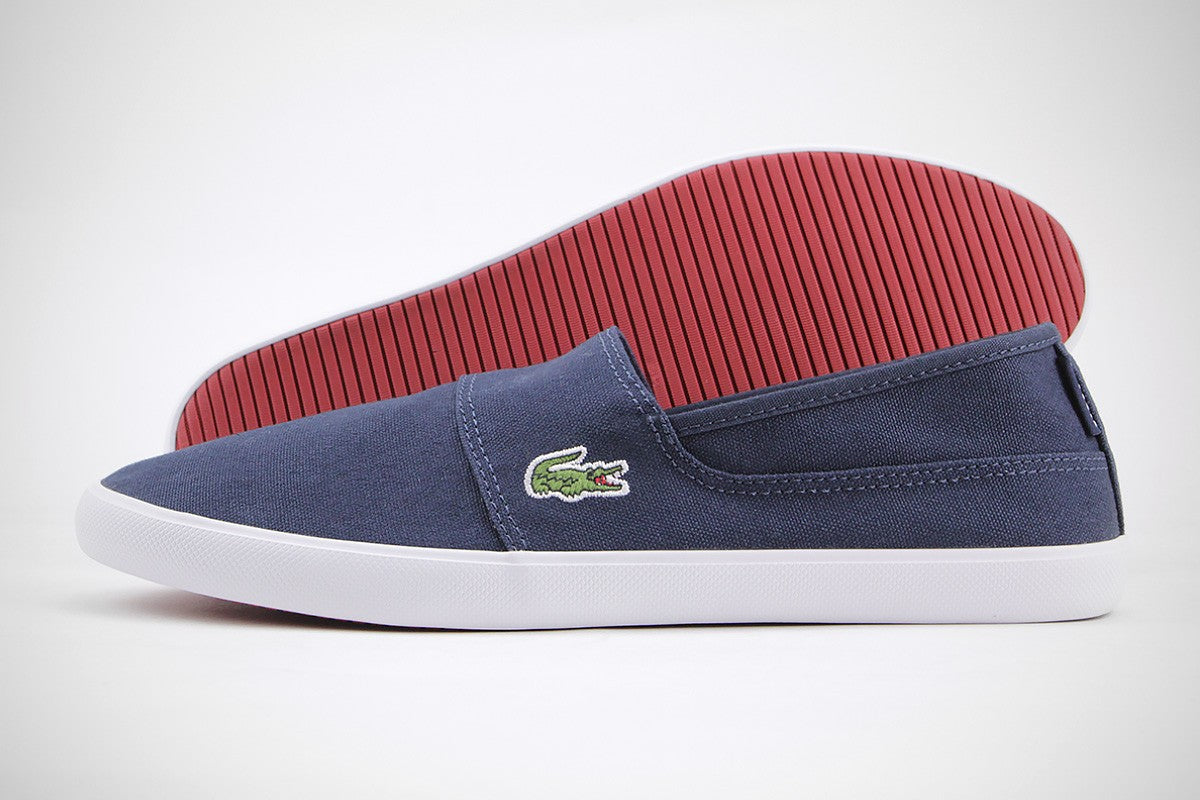 53a40e28a1b128 Lacoste Men s Marice BL 2 CAM 7-33CAM1071DB4 Men Navy Slip On Sneakers Shoes