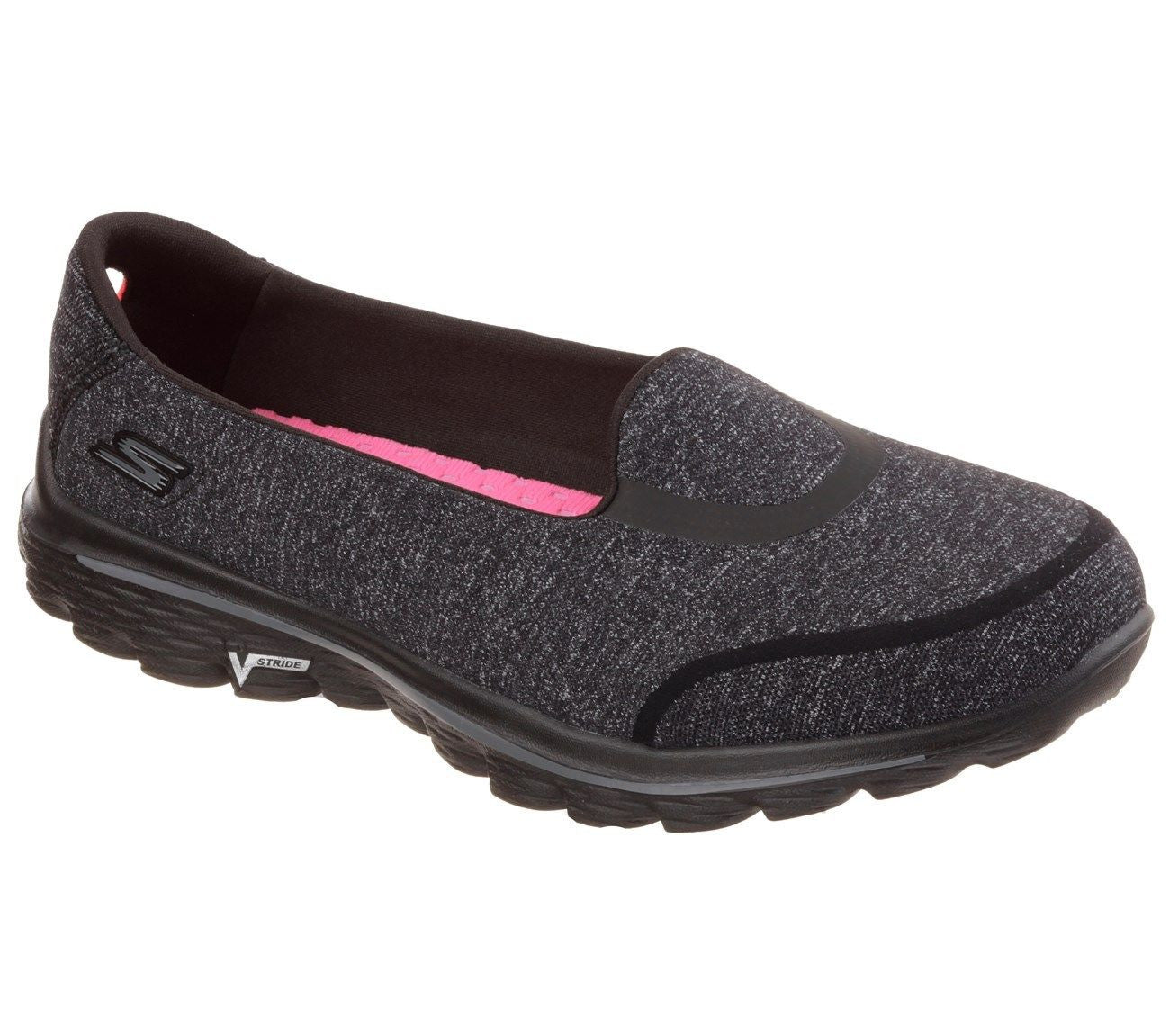 7ee2a202fcd97a Skechers Womens Go Walk 2 Bind Black - Top brand shoes
