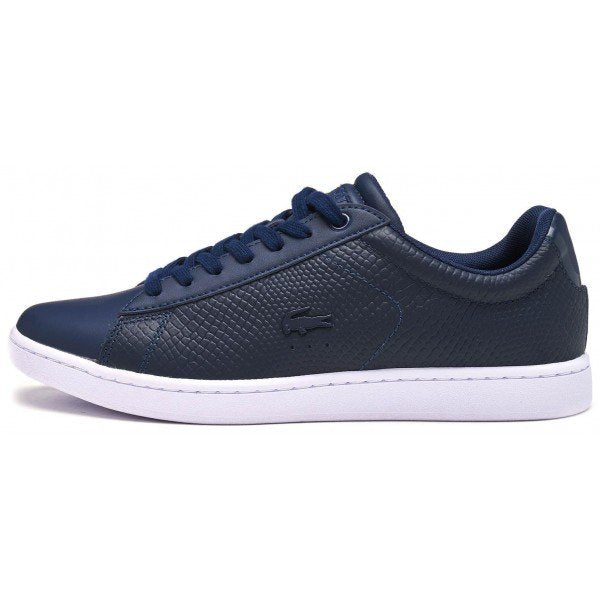 7cb88e37659761 Lacoste Carnaby EVO 317 3 SPW Women Trainers in Navy Blue 734SPW0008 ...