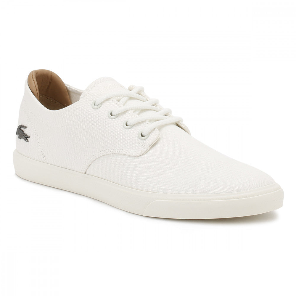 0701d8b2d Lacoste Mens Off White Espere 217 1 CAM Trainers Casual Sneakers Canvas