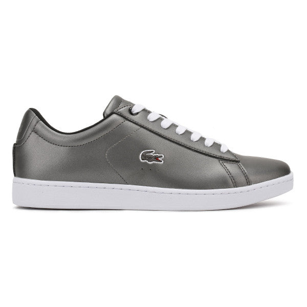 8cc383cbc9d15b Lacoste Womens Lacoste Womens Dark Grey Carnaby EVO 317 4 Trainers Casual  Sneakers