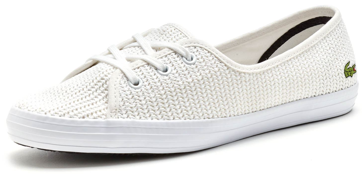 103a308205aea Lacoste Womens Ziane Chunky 217 1 CAW Women Trainers in White Casual  Sneakers