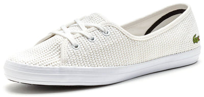 a13514436 Lacoste Womens Ziane Chunky 217 1 CAW Women Trainers in White Casual  Sneakers