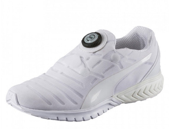 013088893a59 Puma IGNITE Dual DISC Dip Men s Running Shoes White On White - Top ...