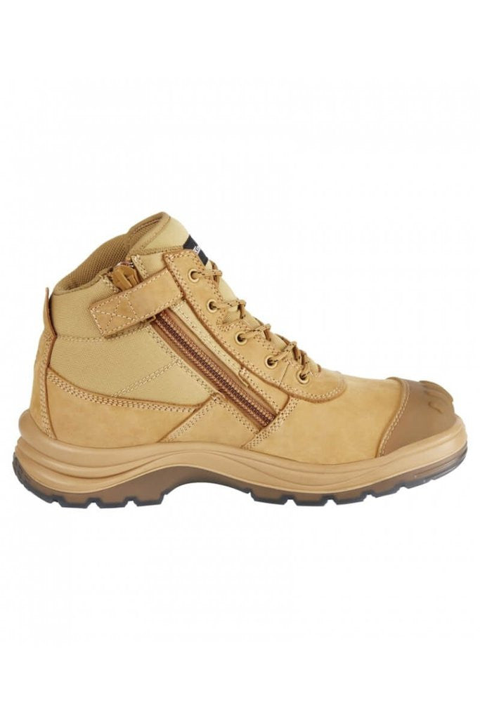 115b61cc407 King Gee K27100 tradie safety lace and zip work boots anti static toe bump  cap