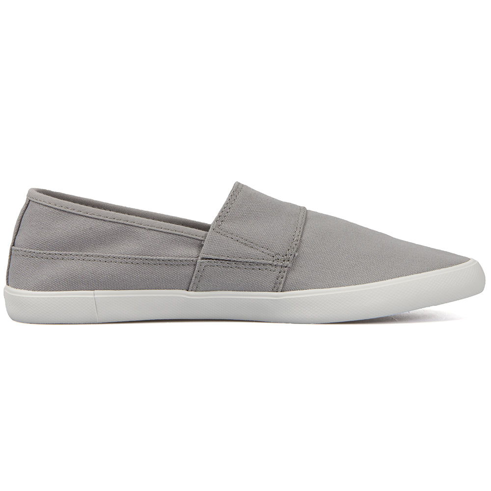 852e683c22b41a Lacoste Men s Mens Marice LCR SPM Canvas Grey Slip On Sneakers - Top ...