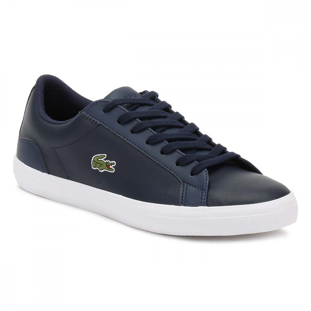 677bf720a6a5 Lacoste Men s Lerond BL 1 CAM Leather Trainers in Navy Blue 733CAM1032 003