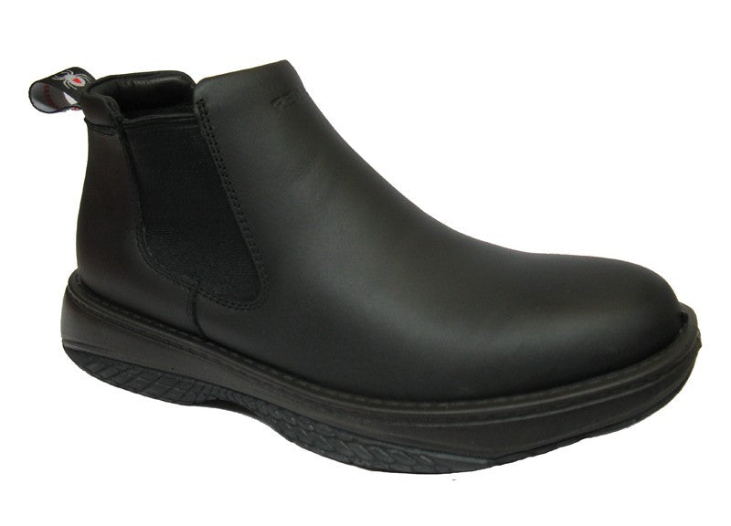 be878a52f03 Redback Black Waiter Chef Shoes Water Oil Repellent Leather Slip On ...