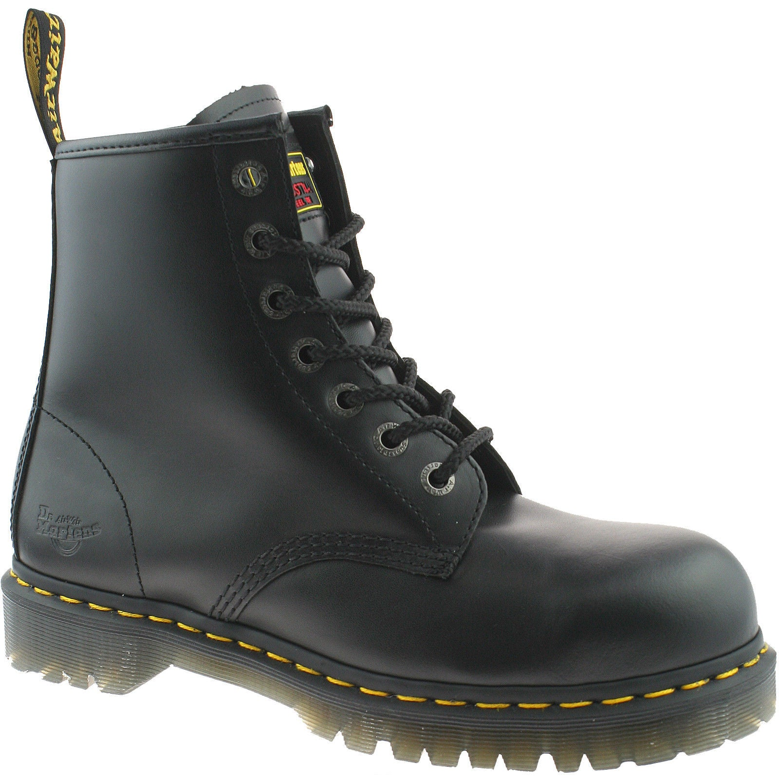 718eb827f8cc3 DR MARTENS MENS BLACK SAFETY WORK STEEL TOE CAP ICON 7B10 BOOTS - Top brand  shoes