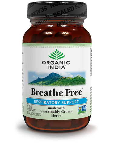 Organic India Breathe Free - 60's  Capsules/Bottle