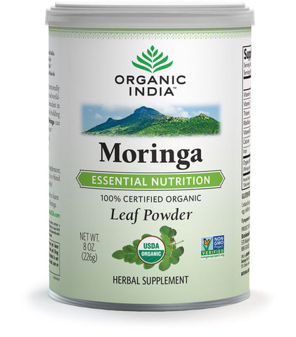 Organic India Moringa Powder - 100g Tin