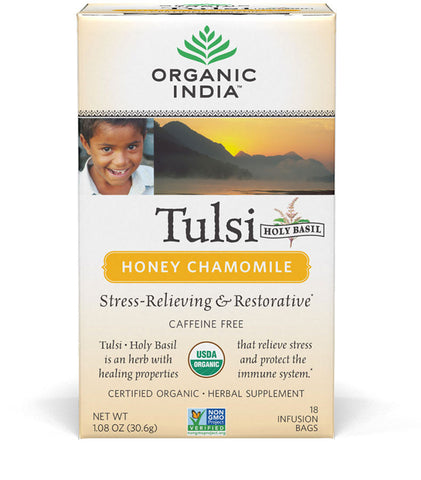 Organic India Tulsi Tea - Honey Chamomile