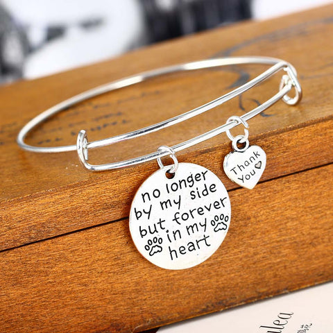 Dog Footprints Love Forever In My Heart Bracelet