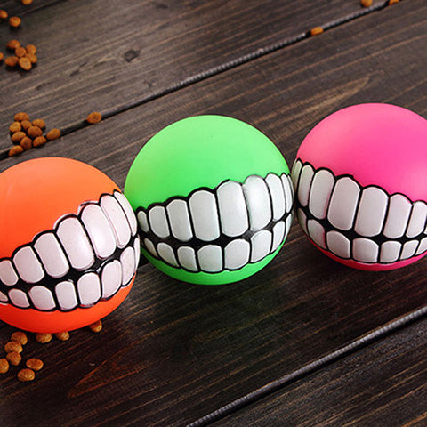 Funny Ball Teeth Dog Toy