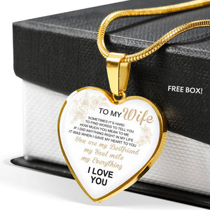 To my Wife I Love You Necklace