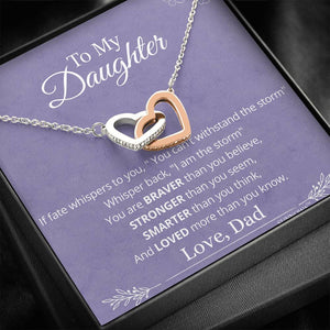 Father Daughter Brave Hearts Necklace